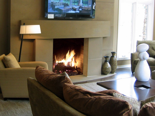 Modern Bow Fireplace Mantel