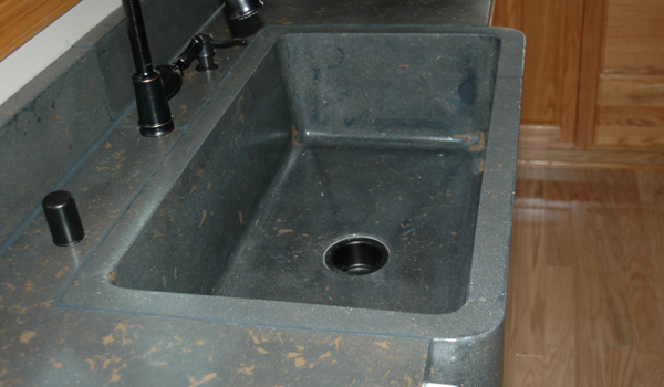 Installed Apron Sink Photo