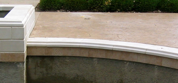 Cast Stone Pool Coping
