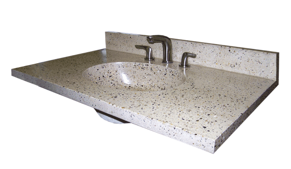 Cast Stone Oval Basin Sink Vanity Top