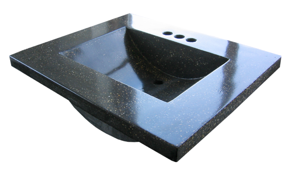 Cast Stone Rectangle Basin Sink Vanity Top